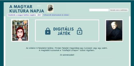 A magyar kultúra napja - Digitális játék